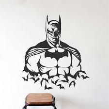 Cool Batman Wall Decal Justice League Mural Superhero Gotham Bruce Wayne S93 Ebay