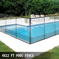 Amazon Com Happybuy Pool Fence For Inground Pools 4 X 12 Pool Fence Black Mesh Barrier Removable Diy Pool Fencing With Section Kit 4 X 12 Garden Outdoor