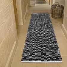 cotton diamond runner rug fully