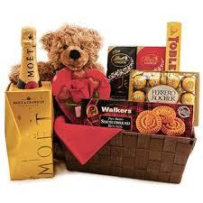 teddy bear and chocolate gift