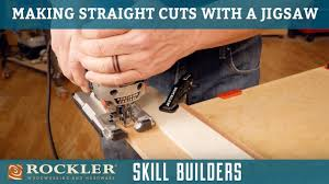 How To Make Straight Rip Cuts With Your Jigsaw Rockler Skill Builders Youtube