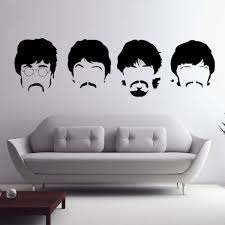 Beatles Wall Decals New Designs Removable Music The Beatles Vinyl Wall Stickers Home Decor Black 58 Beatles Wall Beatles Room Decor Wall Stickers Home Decor