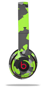 Skin Decal Wrap For Beats Solo 2 And Solo 3 Wireless Headphones Wraptorcamo Old School Camouflage Camo Lime Green Beats Not Included By Wraptorskinz Walmart Com Walmart Com