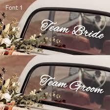Team Bride Team Groom Wedding Car Sticker Sets Match Set Love