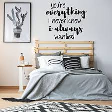Amazon Com Love Wall Decal You Re Everything I Never Knew Vinyl Decoration For Bedroom Home Living Room Or Family Room Handmade