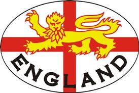 England Lion Car Bumper Sticker