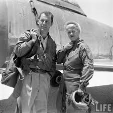 Breaking the Sound Barrier F-86 Pilots Jackie Cochran & Yeager, Edwards  AFB, 1953 from Myra, West Virginia | Pilots aviation, Women in history,  Aviation history