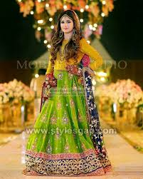 Latest Mehndi Dress Design 2020