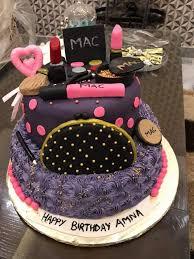makeup kit cake with name saubhaya makeup