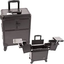 makeup case cosmetic train case trolley