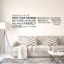 Shop Family Rules Text Pattern Wall Stickers Removable Art Decal For Home Living Room Black Overstock 29527071