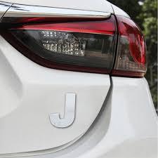 Car Vehicle Badge Emblem 3d English Letter J Self Adhesive Sticker Decal Alexnld Com