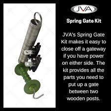 This Week S Featured Product Jva S Spring Gate Kit Electricfencing Fenceaccessories In 2020 Gate Kit Wooden Posts Electric Fence