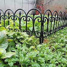 Mukhivala Decorative Garden Plastic Fencing Rustproof Iron Animal Barrier Border For Dogs Flower Bed Edge Wire Patio For Folding Landscape Panels 64ft Black Amazon In Garden Outdoors