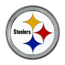 Fanmats Nfl Pittsburgh Steelers 3d Molded Full Color Metal Emblem 22602 The Home Depot