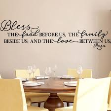 Amazon Com Kitchen Wall Stickers Home Decor Dining Cooking Quote Decal Heart Removable Vinyl Art Decoration Bless The Food Before Us The Family Beside Us And The Love Between Us Amen Black