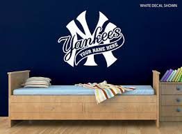 New York Yankees Logo Wall Decal W Your Name Or Original Wording Home Car Decor Ebay