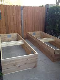 raised bed gardening on concrete