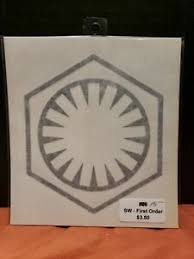 First Order Emblem Star Wars Vinyl Waterproof Decal Sticker Black Kylo Ren Ebay