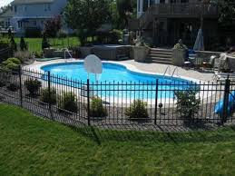 Pin By Rachel Macaluso On Around Pool In 2020 With Images Inground Pool Landscaping Pool Shapes Fence Around Pool