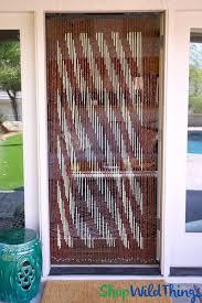 wooden bamboo curtains door window