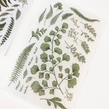 Mu Print On Sticker Wild Fern Niconeco Zakkaya