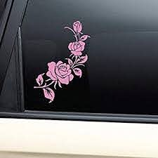 Amazon Com Pink Rose Roses Vinyl Decal Car Truck Bumper Window Sticker Automotive