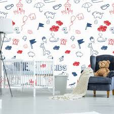 Shildren S Drawing Wallpaper Peel And Stick Removable Wall Mural Kids Room Km91 Ebay