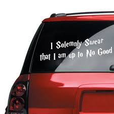 A I Solemnly Swear That I Am Up To No Good Sticker Car Truck Window Decal Drop Shipping Car Stickers Aliexpress