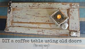 wood coffee table tutorial