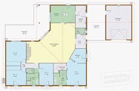 plan maison plain pied 3 chambres avec