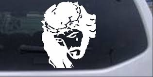 Jesus With Tear Car Or Truck Window Decal Sticker Rad Dezigns