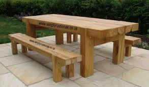 picking the perfect garden table rustic