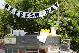 day with a summer diy lemonade stand