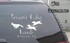 Fox Hunting Dog Kennel Hunt Club Car Truck Window Decal Hunting Kennel Fox Dogs Hunting Dogs Dog Kennel Fox Hunting