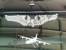 Aerial Gunner Machine Gun Bullet Wings Wwii Army Air Corps Vinyl Decal Roe Graphics And Apparel