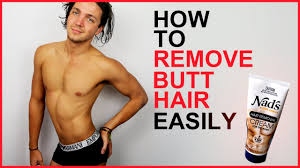 how to remove hair easily men