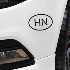 Yjzt 14 6cm 10cm Hn Honduras Country Code Oval Vinyl Decal Car Sticker Black Silver C10 01270 Car Stickers Aliexpress