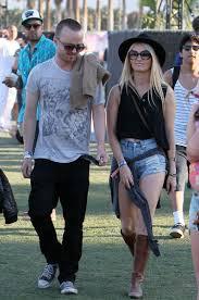 Aaron Paul and Lauren Parsekian at Coachella - The Hollywood Gossip