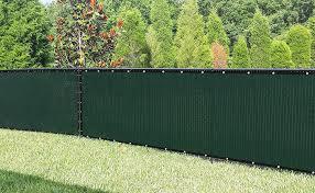 Amazon Com Sunnykud Fence Privacy Screen 4 X25 Heavy Duty Fencing Mesh Shade Net Cover For Outdoor Yard Garden Dark Green Garden Outdoor