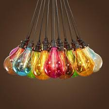 stained glass chandelier e27 colorful