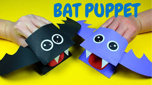 How to Make a Paper Bat Hand Puppet | Halloween Crafts for Kids ...