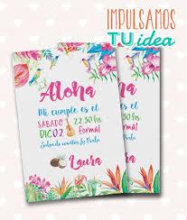 Tarjeta De 15 Tropical Invitacion De 15 Hawai Invitaciones