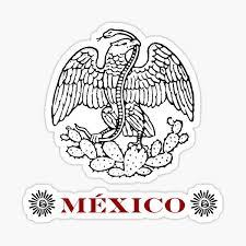 Color Mexican Eagle Sticker By Aduran Redbubble