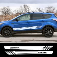 2pcs Car Stylish Side Stripe Stickers For Ford Escape Racing Sport Decoration Vinyl Decal Automobiles Car Tuning Accessories Car Stickers Aliexpress