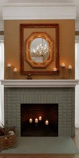 painted brick fireplace makeover how