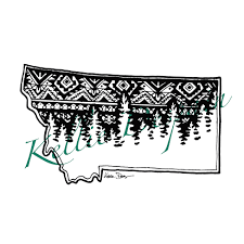 Montana Treeline Vinyl Decal Red Rio Ink Online Store Powered By Storenvy