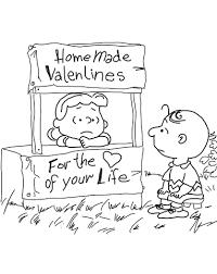 Peanuts Valentijnsdag Kleurplaat Gratis Kleurplaten Printen
