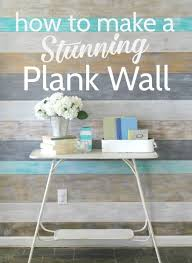 how to make a stunning diy plank wall