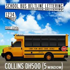 Blue Bird Transit D Series School Bus Lettering